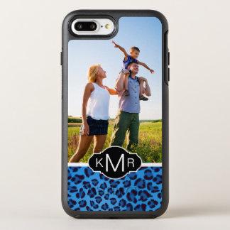 Monogram | Blue Leopard Texture OtterBox Symmetry iPhone 8 Plus/7 Plus Case