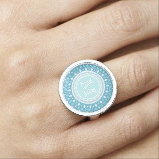 Monogram: Blue Print Ring