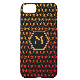 Monogram bright spiders on black iPhone 5C case