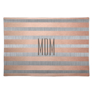 Monogram Bronze & Silver Placemat