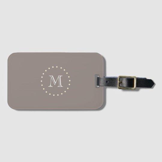 Monogram Brown Elegant Classic Luggage Tag