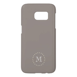 Monogram Brown Elegant Samsung Galaxy S7 Case