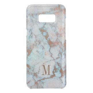 Monogram Brown Glitter Blue And Gray Marble Stone Uncommon Samsung Galaxy S8 Plus Case