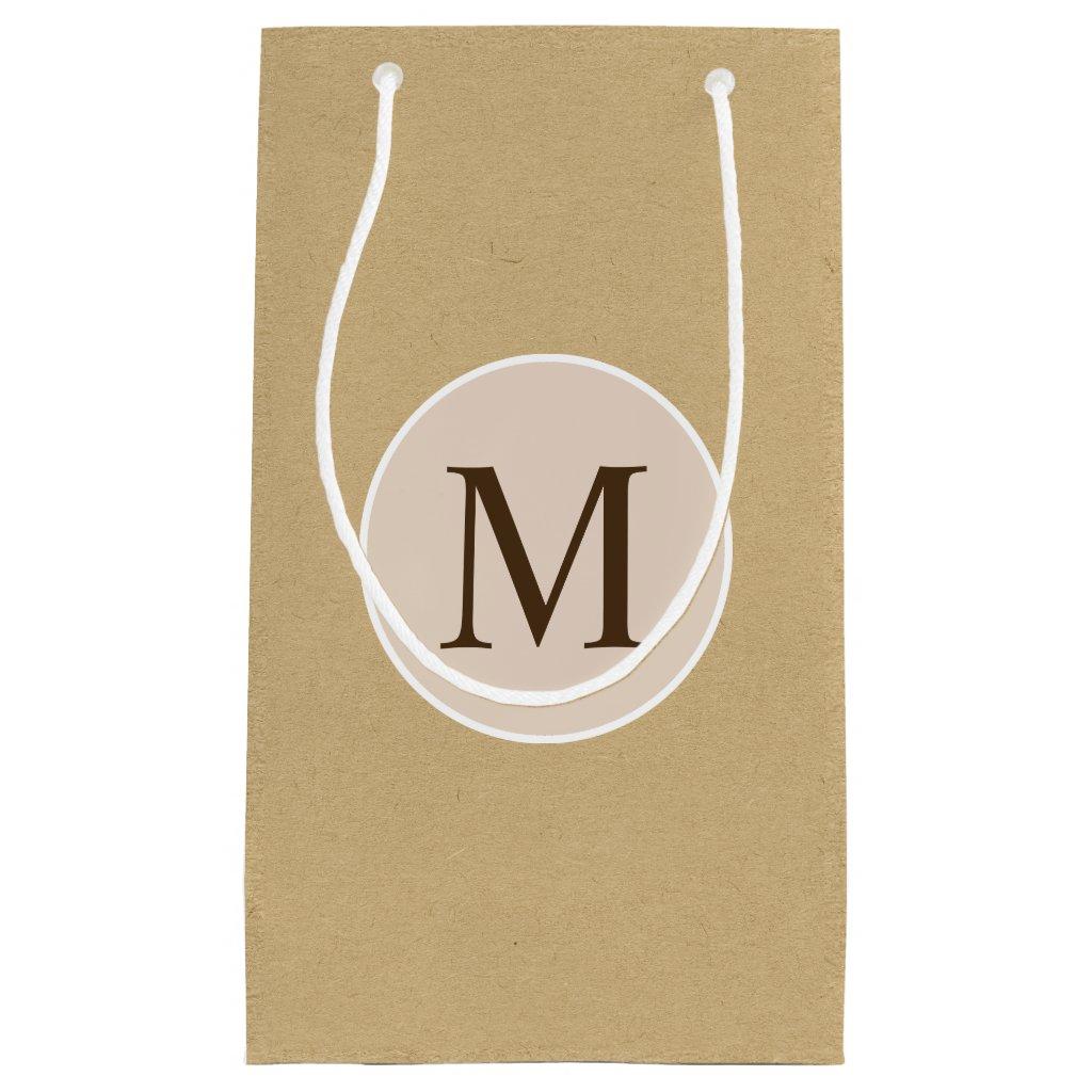 Monogram Brown Kraft Paper Texture