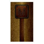 Monogram Brown Leather Look