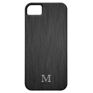 Monogram Brushed Metal Look iPhone 5 Case