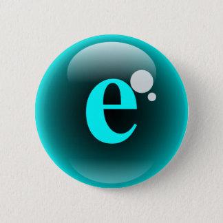 Monogram Bubble E 6 Cm Round Badge
