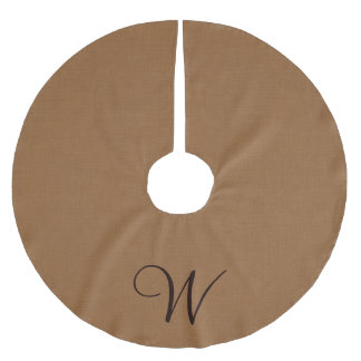 Monogram Burlap Tree Skirt
