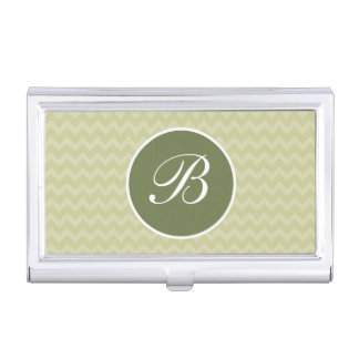 Monogram Business Card Holder