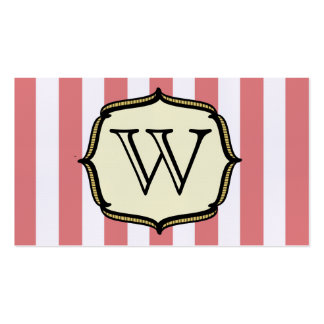 Monogram Business Card - Vintage Circus Inspired