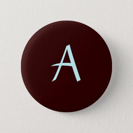 Monogram Buttom 6 Cm Round Badge