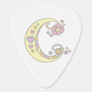 Monogram C and name Celia custom guitar picks