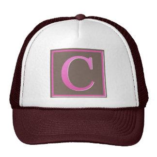 monogram c trucker hats
