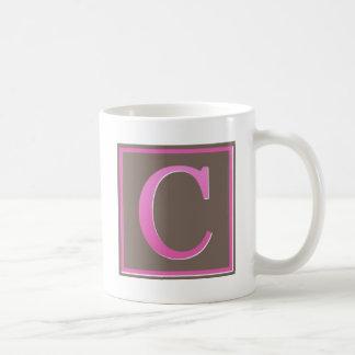 monogram c mugs