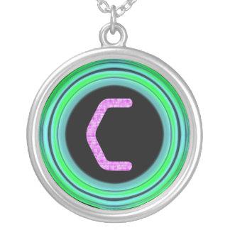 """Monogram """"C"""" Custom Necklace"""