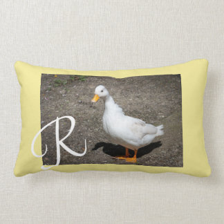 Monogram call duck lumbar cushion