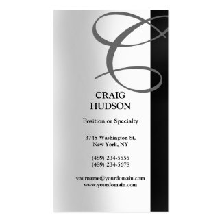 Monogram Calligraphy Business Card