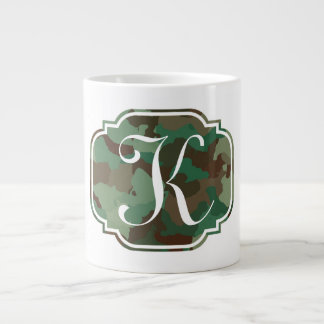 Monogram Camo Large Coffee Mug