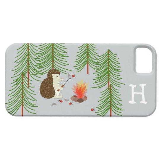 Monogram Camping Hedgehog Phone Case