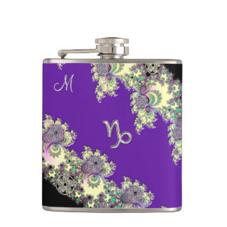 Monogram Celtic Capricorn Flask
