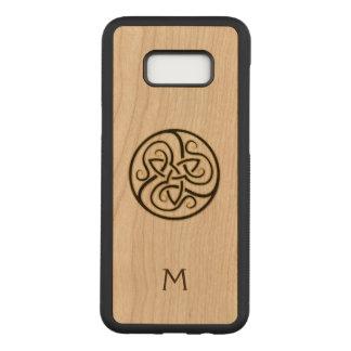 Monogram Celtic Knot Wood Galaxy S8 Case