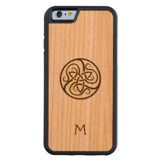 Monogram Celtic Knot Wood iPhone Case