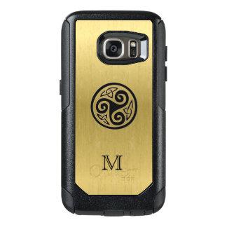 Monogram Celtic Triskele on Gold Galaxy S7 Case