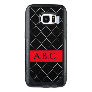 Monogram Chain Link Fence Pattern Personalizable