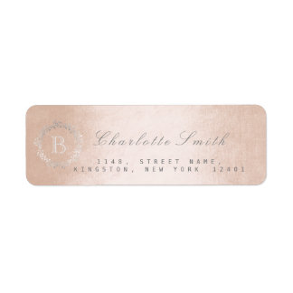 Monogram Champaign Return Address Labels