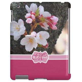 Monogram Cherry Blossom Sakura Blooming Tree Trunk iPad Case
