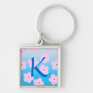 Monogram Cherry Blossoms Keychain