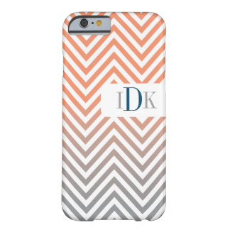 MONOGRAM + CHEVRON | adjustable colors Barely There iPhone 6 Case