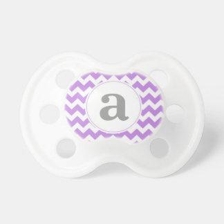 Monogram Chevron Baby Pacifiers