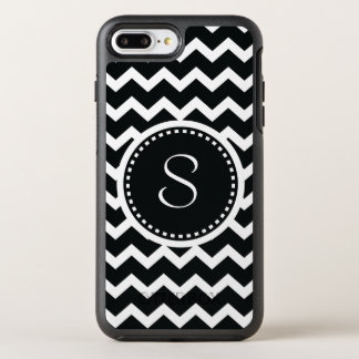 Monogram Chevron Black and White Modern OtterBox Symmetry iPhone 8 Plus/7 Plus Case