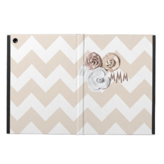 Monogram Chevron Floral Cover For iPad Air