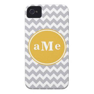 Monogram Chevron iPhone 4 Case-Mate Case