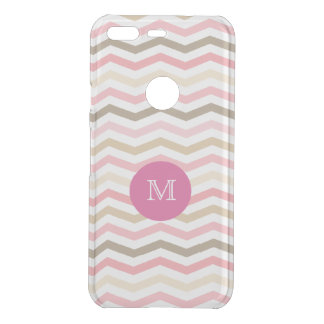 Monogram Chevron Stripes Pattern Uncommon Google Pixel Case