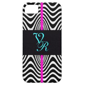 Monogram Chevron Wedding Zigzag Retro Pink Letter iPhone 5 Cover