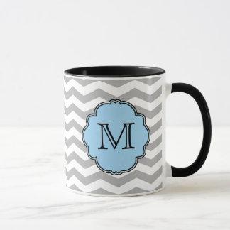 Monogram Chevron Zigzag Mug