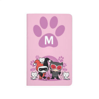 Monogram Chibi Harley Quinn & Catwoman With Cats Journal