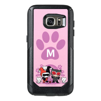 Monogram Chibi Harley Quinn & Catwoman With Cats OtterBox Samsung Galaxy S7 Case