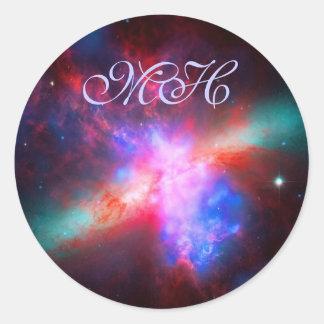 Monogram - Cigar Galaxy - Messier 82 Round Sticker