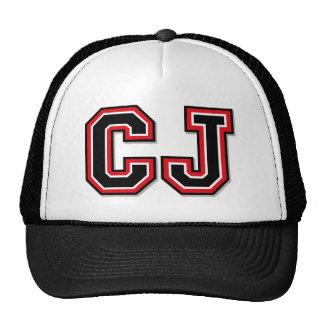 Monogram 'CJ' initials Mesh Hat