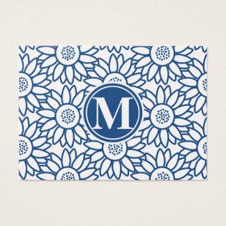 Monogram Classic Blue Sunflower