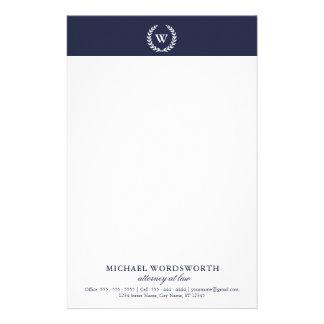 Monogram Classic Elegant Professional Stationery
