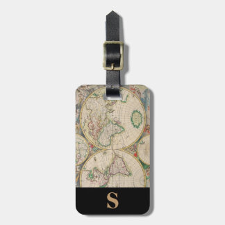 Monogram Classic Travel Vintage World Map Luggage Tag