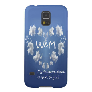 Monogram Cloud Heart Valentine's Day Case For Galaxy S5