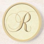 Monogram coasters - letter R