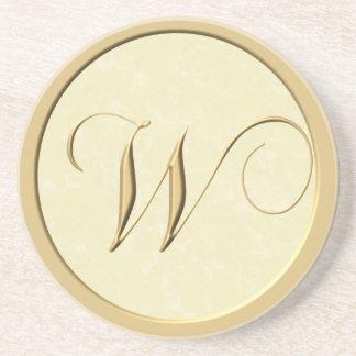 Monogram coasters - letter W