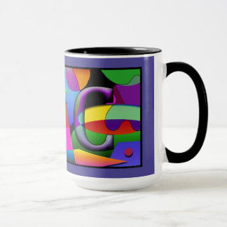 Monogram Cofee mug with initials J & C